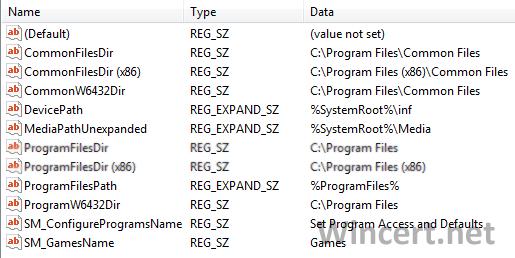 Default Installation Path Windows 7