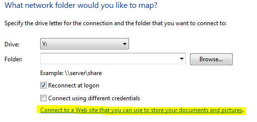 How to map FTP site in Windows 7