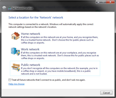 If You Have The Reason To Disable Set Network Location Prompt In Windows 7 Please Do Following