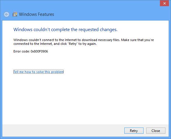 Install .NET Framework 2.0 or 3.5 on Windows 8 - WinCert